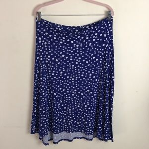 🌸LuLaRoe Blue Polka Dot Midi Azure Skirt XL